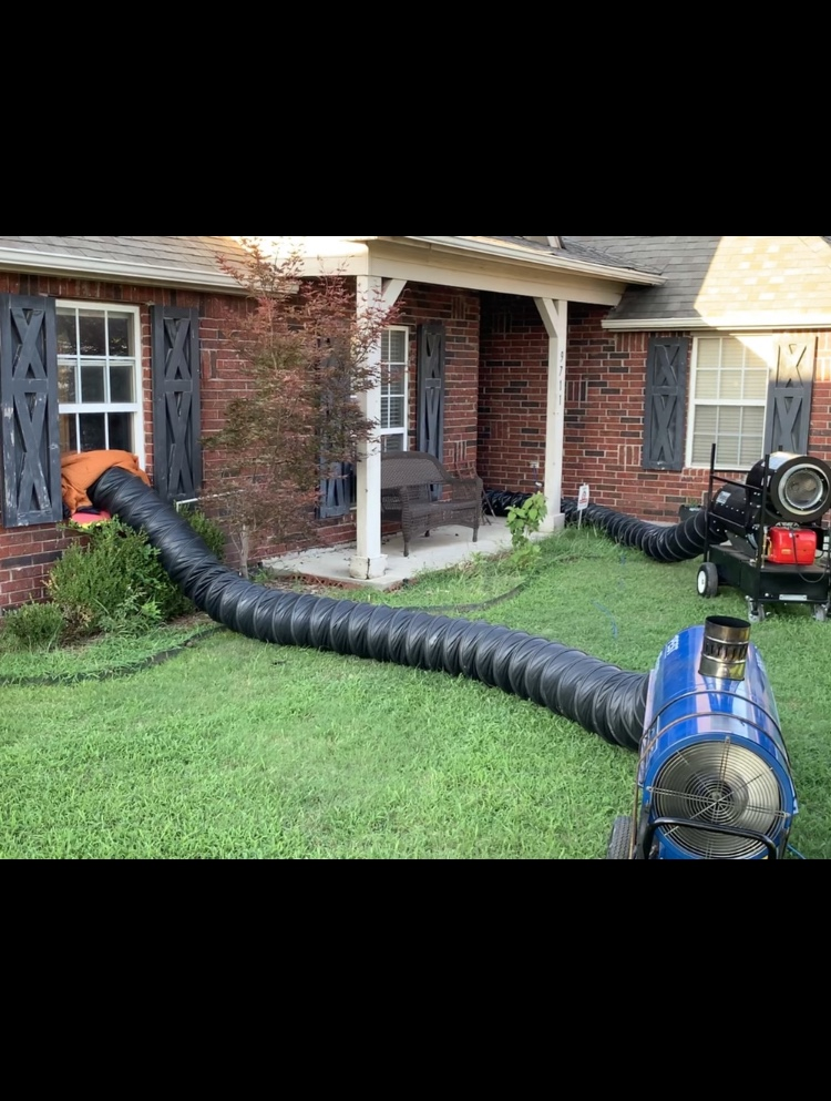 Our bed bug heat treatment in action at an Owasso clients home.