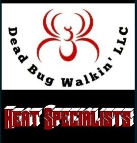 Dead Bug Walkin LLC Bed Bug Heat Treatment Specialists Pest Control logo.