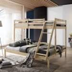 Timber Triple Bunk Bed Natural Shop At Bedbuyer Bedbuyer Com Au