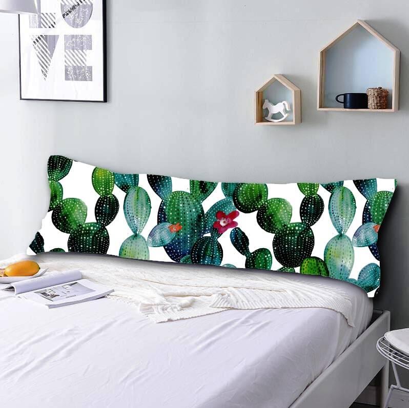 cute cactus long body pillowcase cover rectangular pillow 20 x 54 7 designs