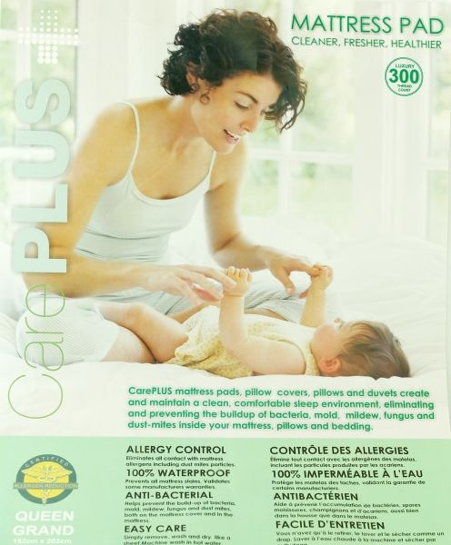 CarePLUS Water And Allergy Proof Mattress Pad