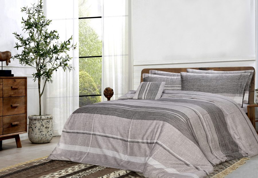 6 Pcs Printed Sateen Quilt Cover - Losher