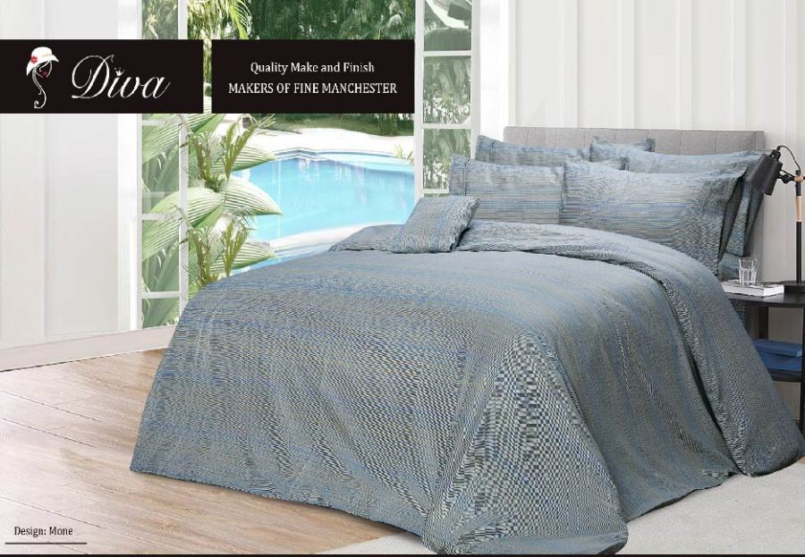 6 Pcs Printed Sateen Quilt Cover - Mone