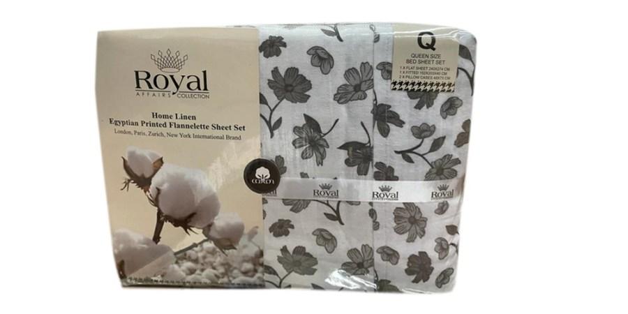 100% Pure Cotton Cozy Winter Flannelette Sheet Sets Design- Trion~FREE POSTAGE~