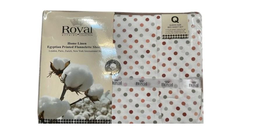 100% Pure Cotton Cozy Winter Flannelette Sheet Sets Design- Jamica~FREE POSTAGE~