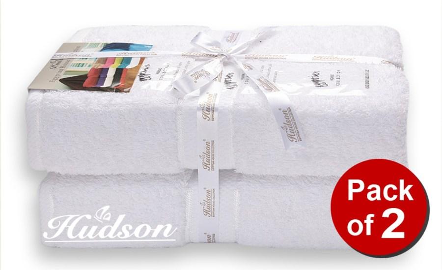 Pack Of 2 pcs Bath Sheet - White