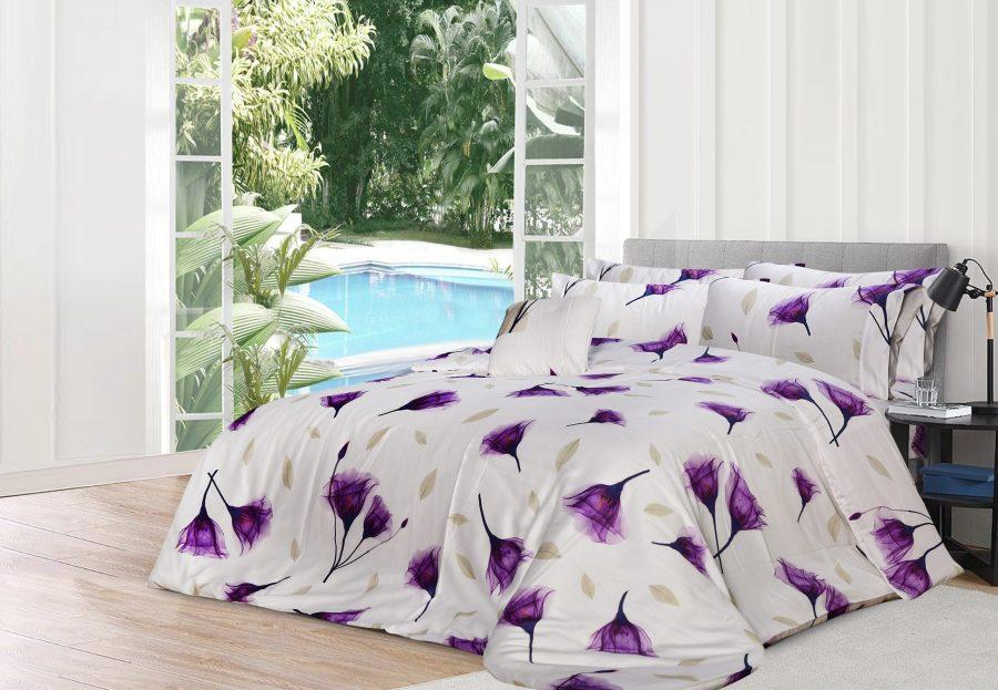 6 Pcs Printed Sateen Quilt Cover - Tulip