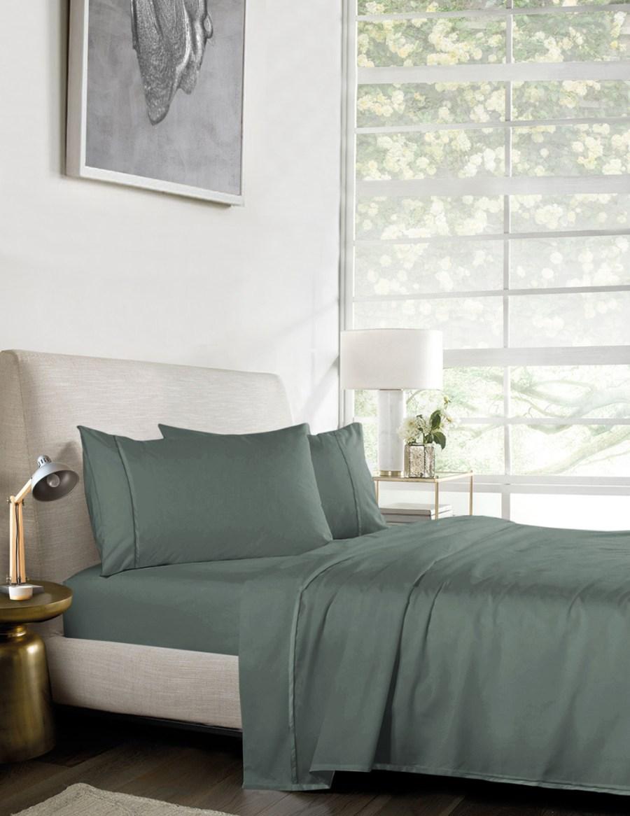 1000TC Pure Egyptian Cotton Sheet Set – Green Army