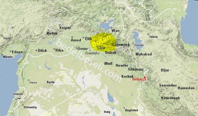 Foto: Botan Haritası, Kürdistan