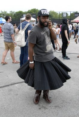 Nice skirt! (Photo: Joshua Kristal)