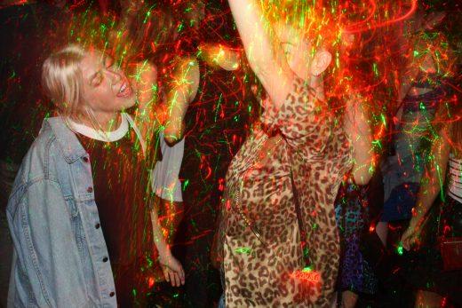 Laser-dancers at The Call Box (Photo: Natalie Rinn)