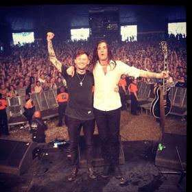 Frank Carter (l) and Jim Carroll in Edinburgh (Photo: Pure Love's Instagram)