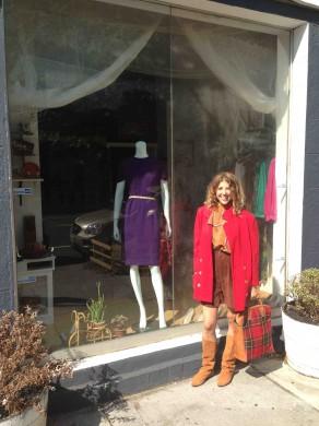 Erica Dobbs, outside her 135 Franklin Street storefront. (Photo: Natalie Rinn)