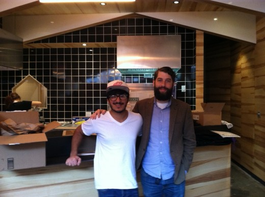 Tsuna and Price as they prepare for their reopening.
