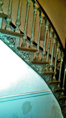 The second floor iron staircase. (Photo: Meryl Kremer)