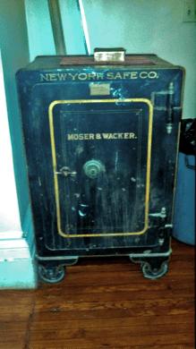 The impenetrable iron safe. (Photo: Meryl Kremer)