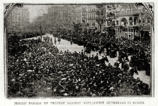 A scene from the protest on December 5, 1905. (The New-York Daily Tribune)