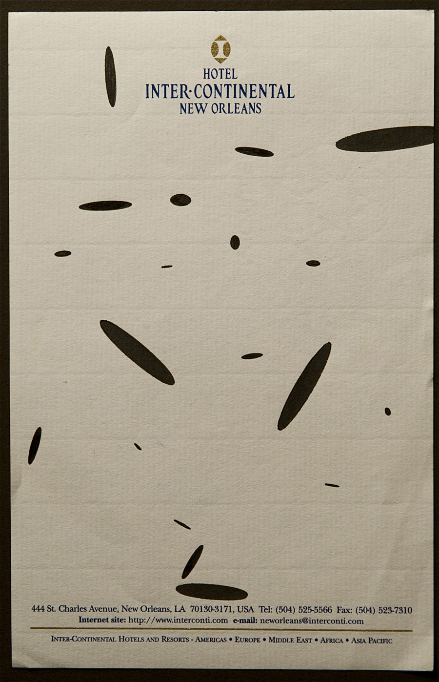 Billy Martin's automatic drawing (image courtesy of The Drawing Center)