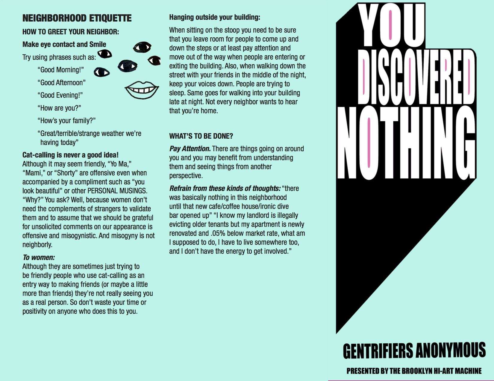 Gentrifiers pamphlet revised
