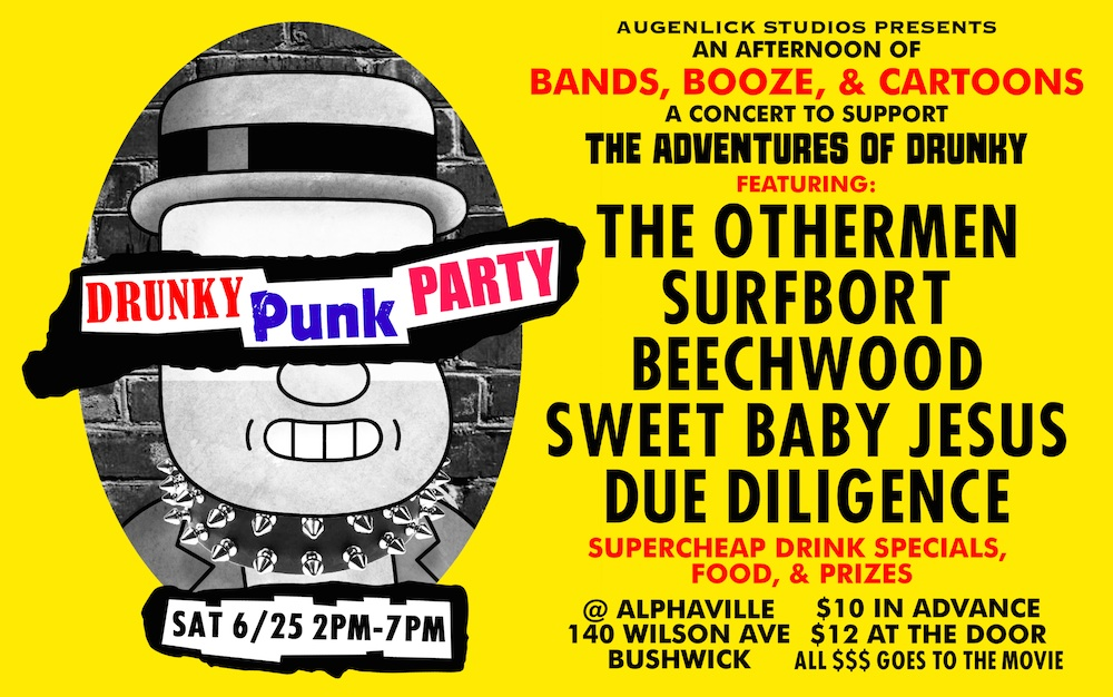 """(Flyer via """"Adventures of Drunky""""/ Augenblick Studios)"""