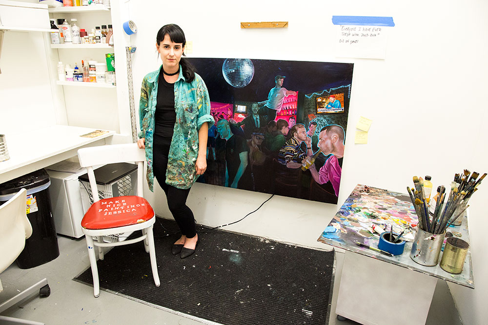 Jessica Ellis inside her studio at Brooklyn Brush (Photo: Nicole Disser)