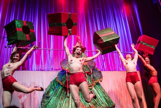 Xmas Spectacular at House of Yes 2015 (Photo: Todd Seelie)