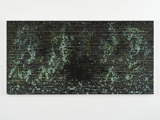 Quantum Wall, II (Missing Matter), 2016 Acrylic on canvas 121.9 x 243.8 x 7.6 cm / 48 x 96 x 3 in © Jack Whitten Courtesy the artist and Hauser & Wirth