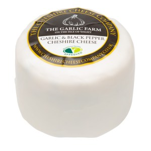 NEW The Cheshire Cheese Company - Garlic & Black Pepper Cheshire Cheese 200g