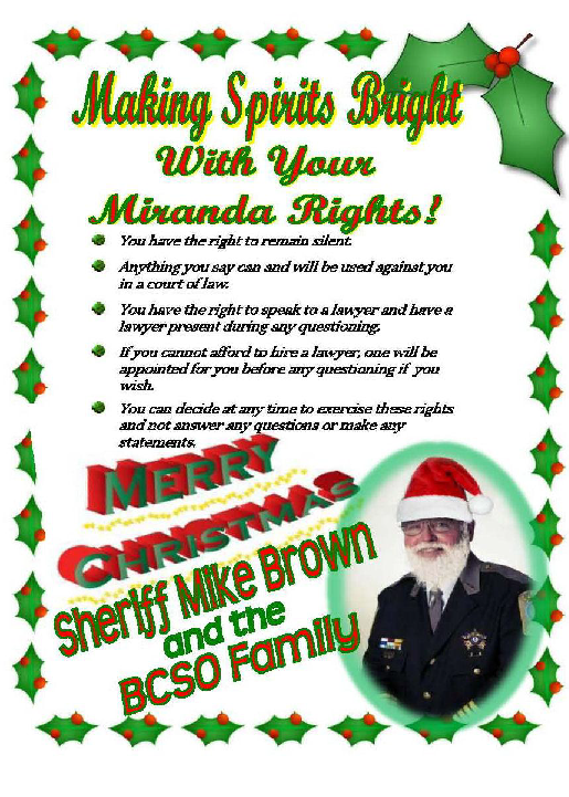Christmas Miranda Rights