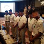 Receiving a standing ovation from the members of the VA Sheriff's Association