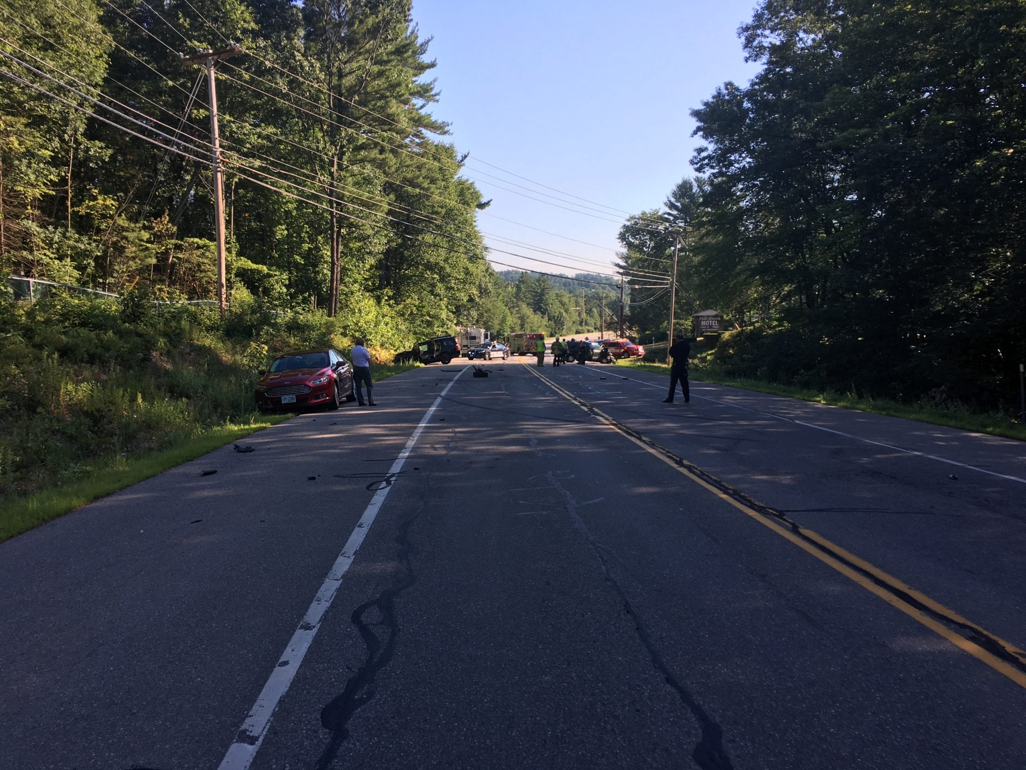 Bedford, N H  Police Investigating 5-Vehicle Crash on Rt  101
