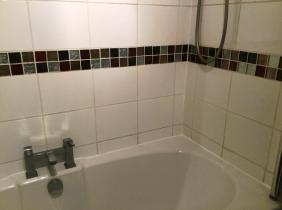Ceramic Tiled Bathroom After Cleaning Bedford Town Centre