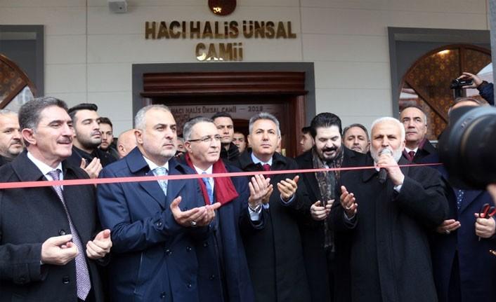 Hacı Halis Ünsal Camii açıldı