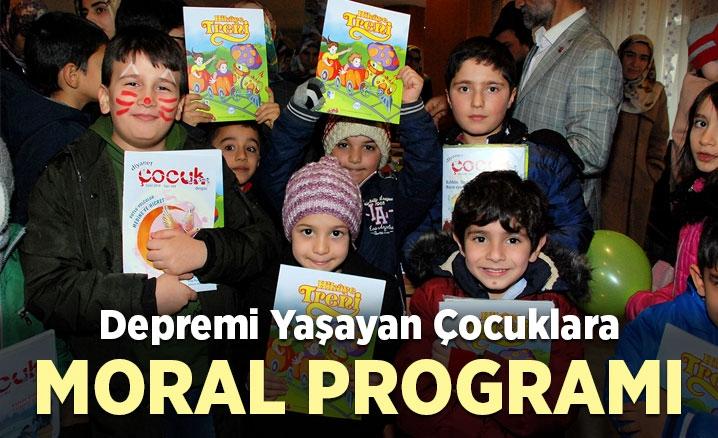 Depremzede çocuklara moral programı