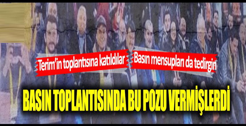 Fatih Terim'in basın toplantısına katılan gazeteciler tedirgin