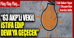 "Flaş flaş flaş… ""AKP'li 63 milletvekili istifa edip Ali Babacan'ın partisi DEVA'ya geçiyor"" iddiası"