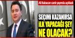 Cüneyt Özdemir'e konuşan Ali Babacan iktidara gelirlerse yapacağı ilk şeyi açıkladı
