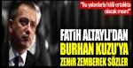 """Fatih Altaylı'dan Burhan Kuzu'ya zehir zemberek sözler: """"Bu yalanlarla hâlâ ortalıkta olacak mısın!"""""""