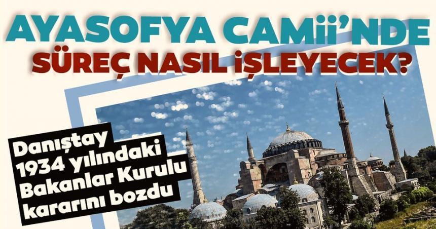 Erdoğan, Ayasofya'nın ibadete açılmasına ilişkin kararnameyi imzaladı