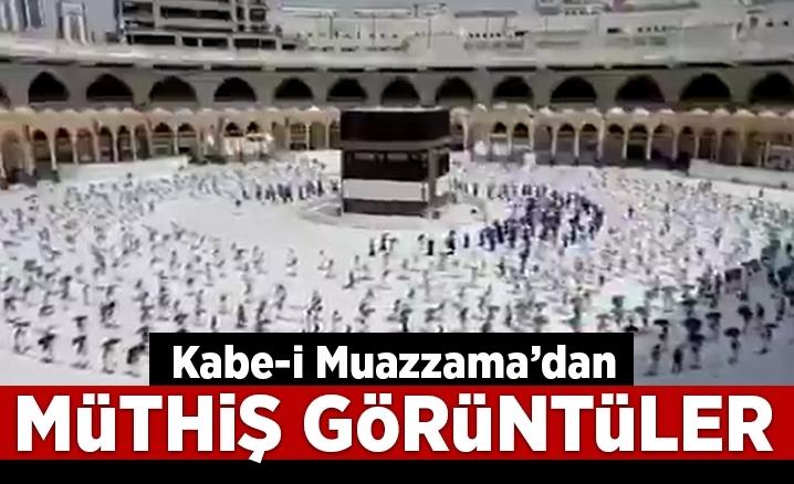 Kabe-i Muazzama'dan müthiş görüntüler