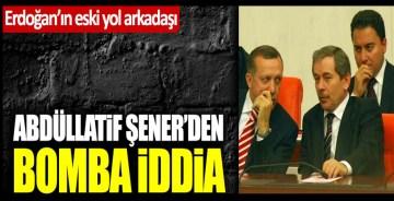"""Tayyip Erdoğan'ın eski yol arkadaşı Abdüllatif Şener'den bomba iddia: """"AKP büyük oy kaybı yaşayacak"""""""