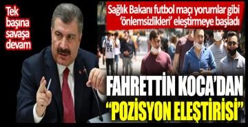 """Sağlık Bakanı futbol maçı yorumlar gibi 'önlemsizlikleri' eleştirmeye başladı! Fahrettin Koca'dan """"pozisyon eleştirisi"""""""