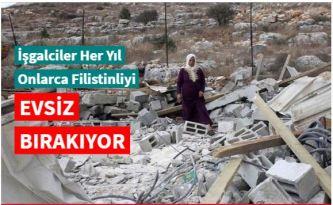 İşgalciler Batı Şeria'da Filistinlilere ait bir ev ile su deposunu yıktı