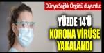 Dünya Sağlık Örgütü duyurdu: Yüzde 14'ü korona virüse yakalandı