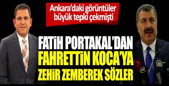 Fatih Portakal'dan Fahrettin Koca'ya zehir zemberek sözler