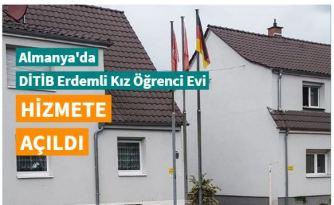 Almanya'da 'DİTİB Erdemli Kız Öğrenci Evi' hizmete açıldı