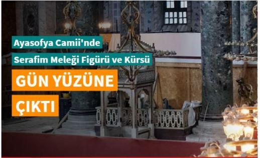 Ayasofya Camii'nde Serafim Meleği figürü, vaiz kürsüsü ve mahfil yeniden görünür hale geldi