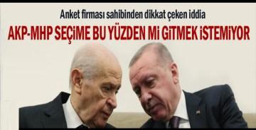 Anket firması sahibinden dikkat çeken iddia: AKP-MHP seçime bu yüzden mi gitmek istemiyor