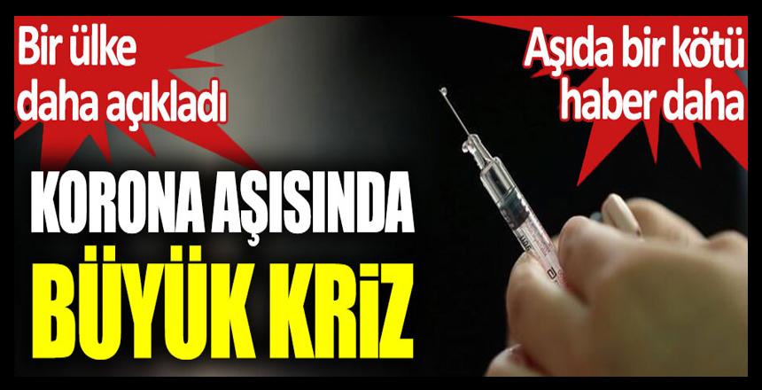 Korona virüs aşısında büyük kriz. Bir ülke daha açıkladı. Aşıda bir kötü haber daha!