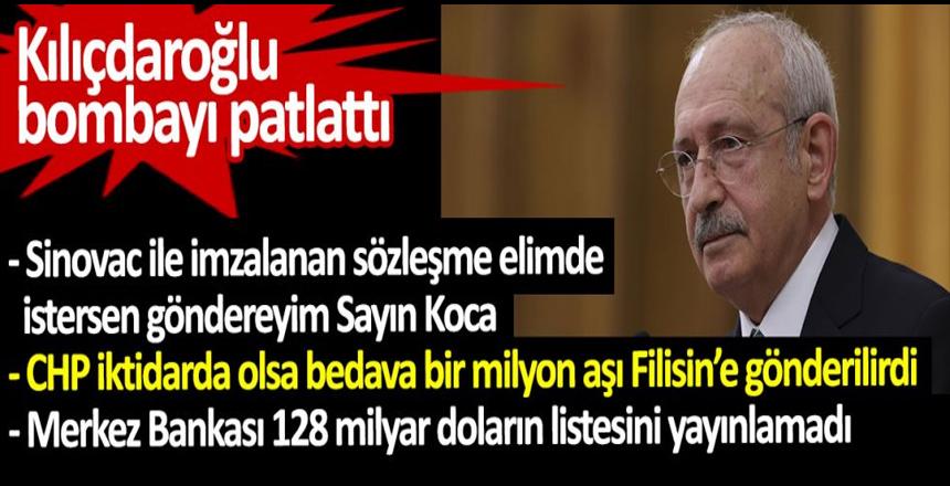 Kılıçdaroğlu açıkladı. Sinovac ile imzalanan sözleşme elimde istersen göndereyim Sayın Koca